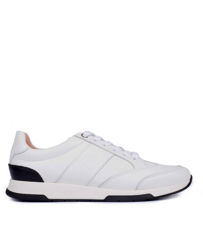 Unisa Unisa ladies sneaker leather white with black
