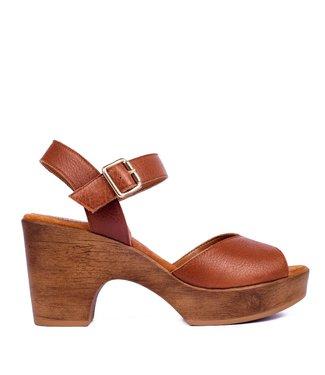 Unisa Unisa sandaal Ottis bruin leer