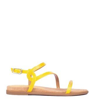 Unisa Unisa Claris geel leren sandaal