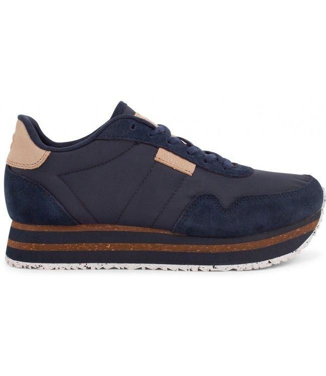 Woden Woden Nora 11 Plateau sneakers blauw