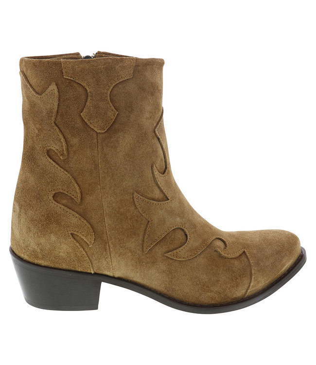 Lazamani Lazamani ladies western boots brown suede