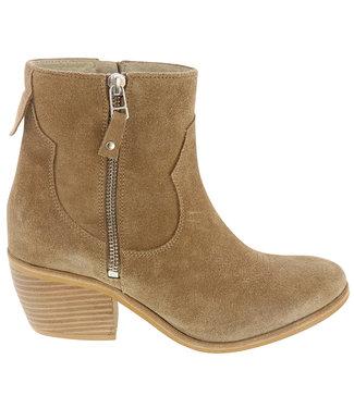 Lazamani Lazamani ladies western boots taupe suede