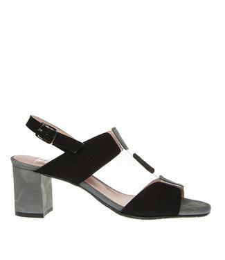 Square Feet Square Feet elegant sandal black with grey suede