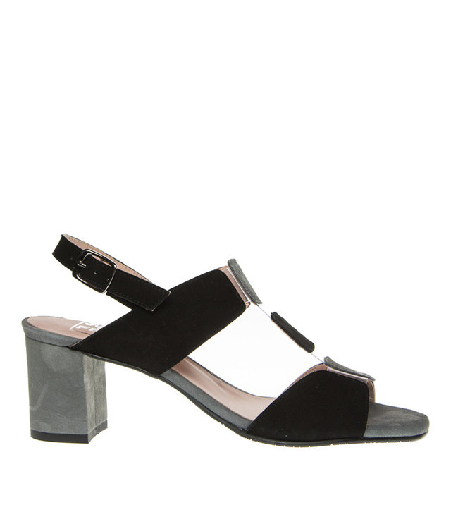 Square Feet Square Feet elegant sandal black with grey suede