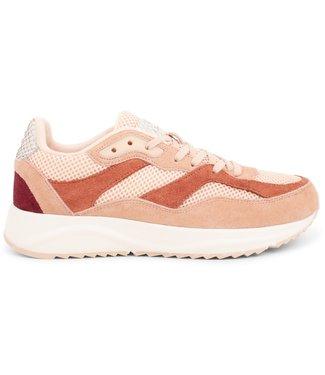 Woden Woden Sophie rainbow roze dames sneakers
