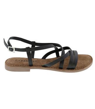 Lazamani Lazamani dames sandaal zwart leer
