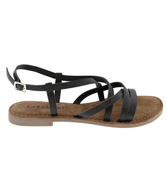 Lazamani Lazamani ladies sandal black leather