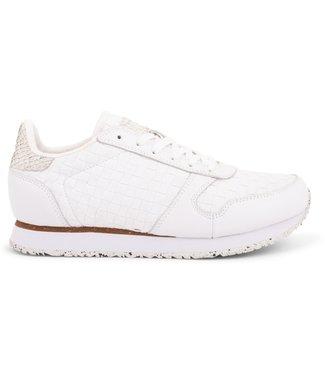 Woden Woden Ydun vlecht dames sneaker wit
