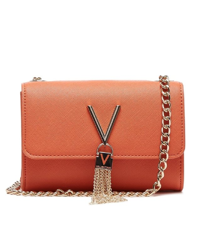 Valentino Valentino Divina Orange ladies' shoulder bag