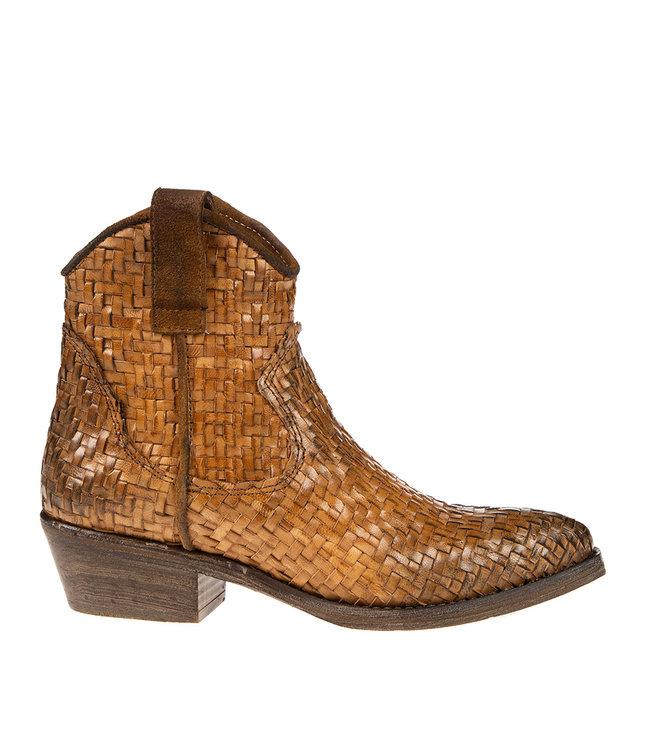 Metisse Metisse boots bruin gevlochten leer