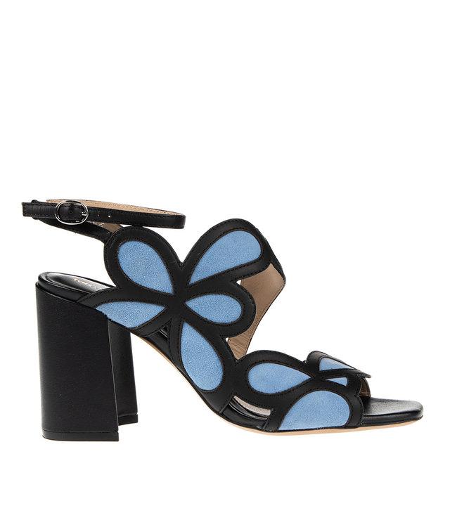 Bruno Premi Bruno Premi hoge hak sandaal zwart met blauw