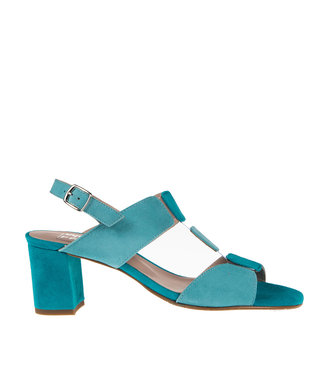 Square Feet Square Feet dames elegante sandaal blauw suède