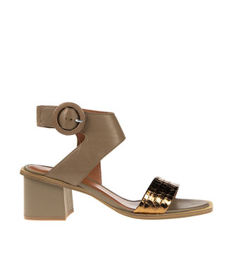 Bruno Premi Bruno Premi block heel sandal green with bronze