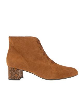 Square Feet Square Feet short zip boot elastic straps cognac