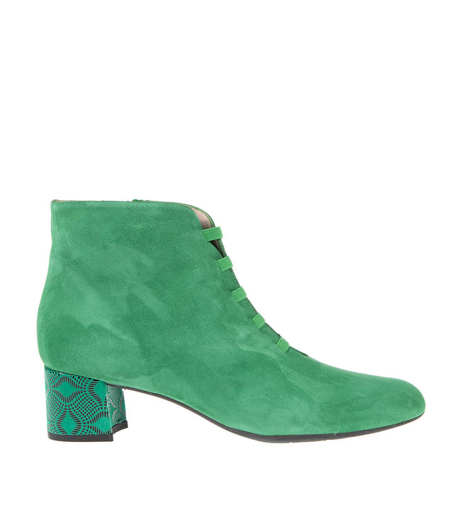 Square Feet Square Feet short zipper boots elastic emerald green