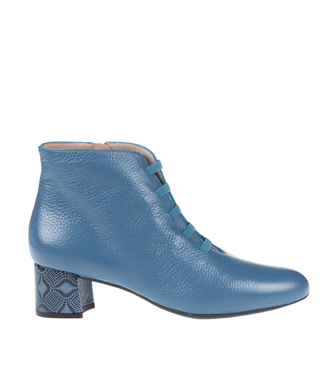 Square Feet Square Feet short zipper boots elastic blue