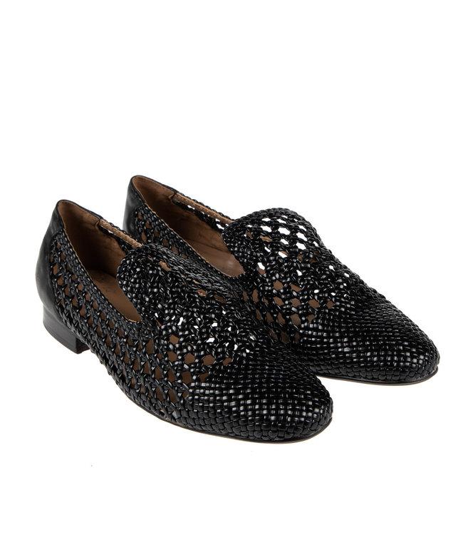 Pedro Miralles Pedro Miralles dames loafer zwart vlecht