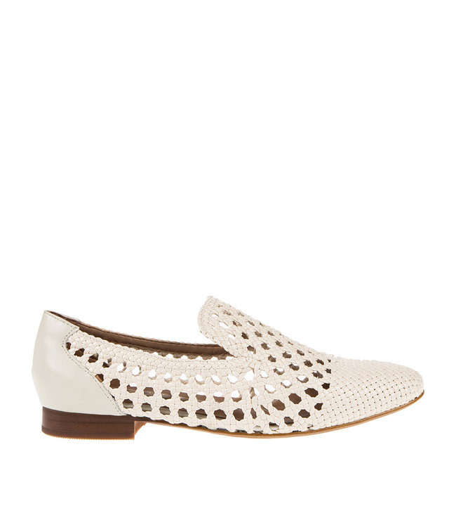 Pedro Miralles Pedro Miralles dames loafer wit vlecht