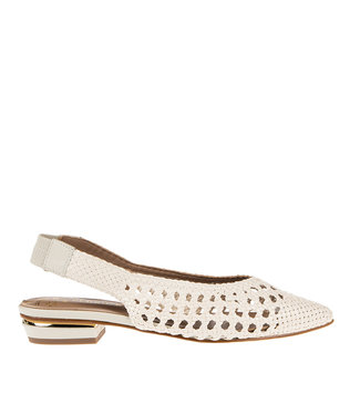 Pedro Miralles Pedro Miralles dames slingback wit vlecht