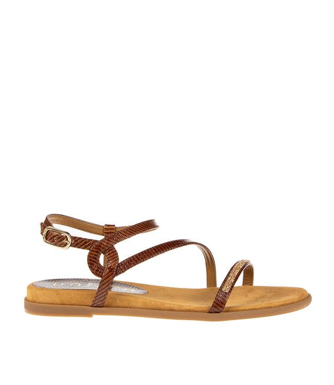 Unisa Unisa Claris bruin leren sandaal