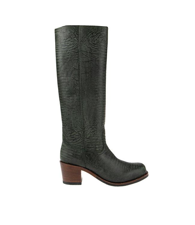 Sendra Sendra cowboy ladies boot green leather
