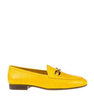 Unisa Unisa Dalcy dames loafer geel lizard