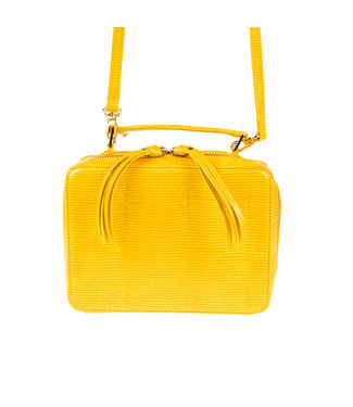 Unisa Unisa Zbele lizard yellow ladies shoulder bag