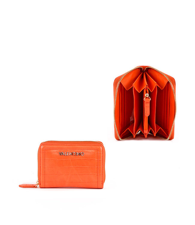 Valentino Valentino Bicorno orange wallet