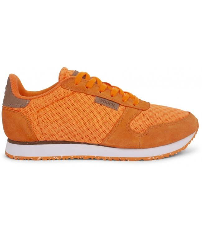 Woden Woden Ydun suede mesh orange ladies sneaker