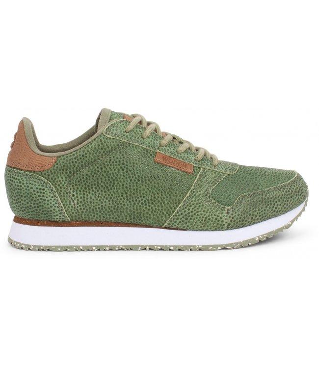 Woden Woden Ydun pearl groen dames sneaker