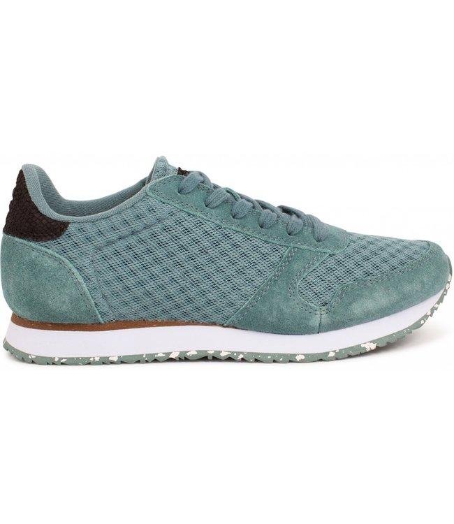 Woden Woden Ydun suède mesh 11 blauw dames sneaker