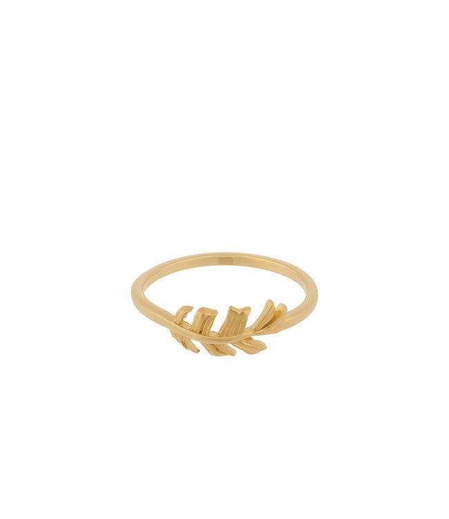 Pernille Corydon Pernille Corydon Leaf ring goud verguld