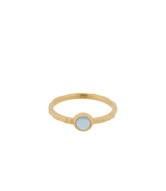 Pernille Corydon Pernille Corydon Shine Blue Topaz ring gold plated