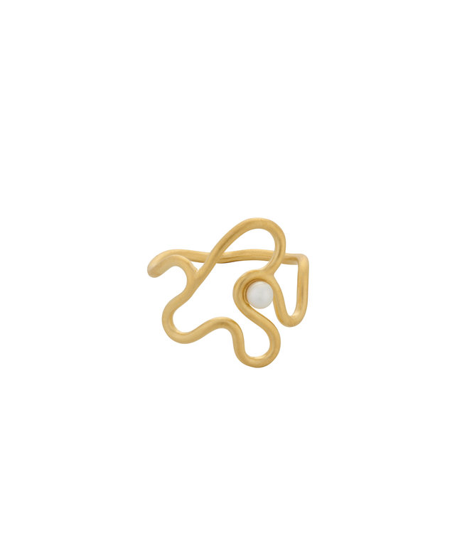 Pernille Corydon Pernille Corydon Bay Pearl ring goud verguld