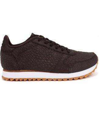 Woden Woden Ydun Croco 11 zwart dames sneakers
