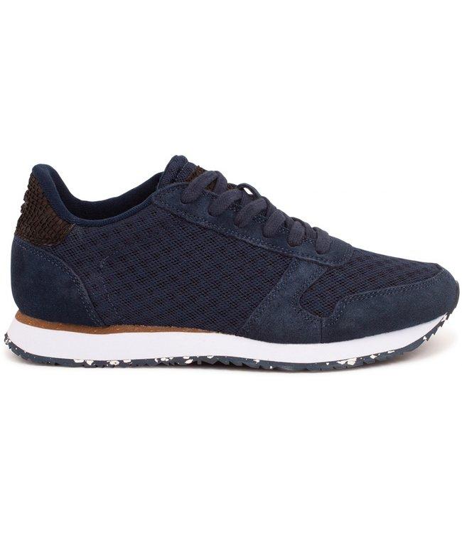 Woden Woden Ydun suède mesh 11 d. blauw dames sneaker