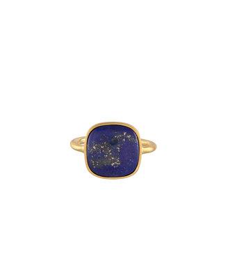Pernille Corydon Pernille Corydon Lapis Lazuli ring gold plated