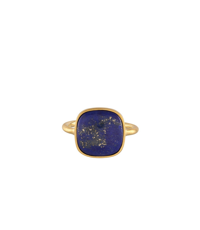Pernille Corydon Pernille Corydon Lapis Lazuli ring goud verguld
