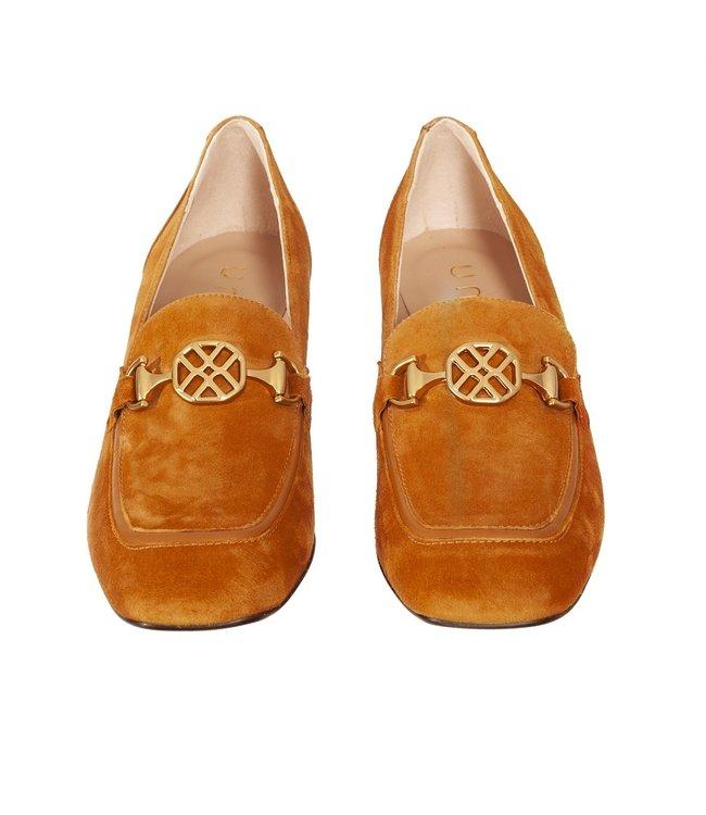 Unisa Unisa Majal dames loafer okergeel