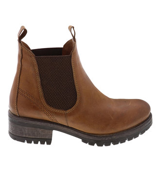 Lazamani Lazamani ladies brown leather chelsea boots