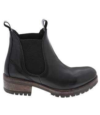 Lazamani Lazamani ladies black leather chelsea boots