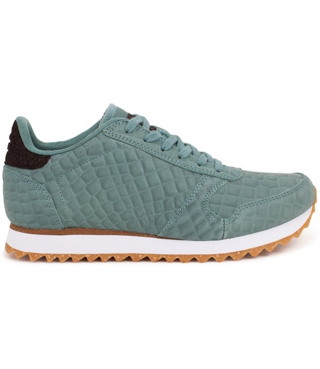 Woden Woden Ydun Croco 11 groen dames sneakers