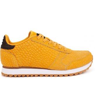 Woden Woden Ydun Croco 11 geel dames sneakers