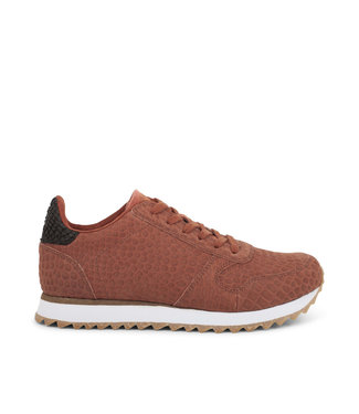 Woden Woden Ydun Croco 11 bruin dames sneakers