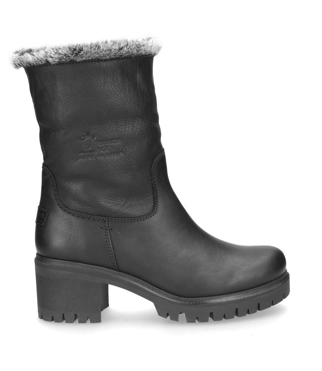 Panama Jack Panama Jack ladies boot in black leather with warm lining