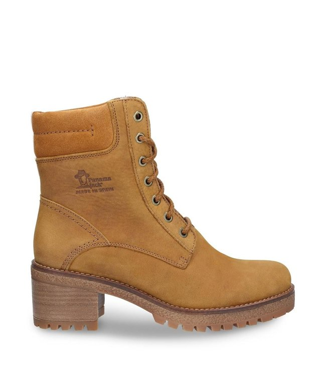 Panama Jack Panama Jack ladies lace-up boots yellow ocher with warm lining