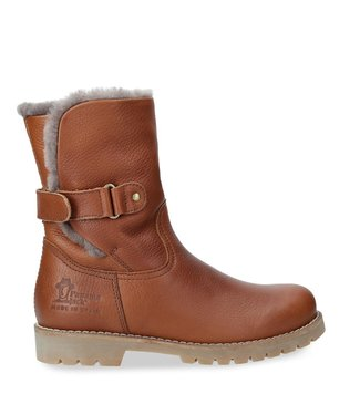 Panama Jack Panama Jack ladies brown leather with sheepskin short boot
