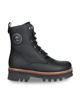 Panama Jack Panama Jack dames boots zwart met plateau zool