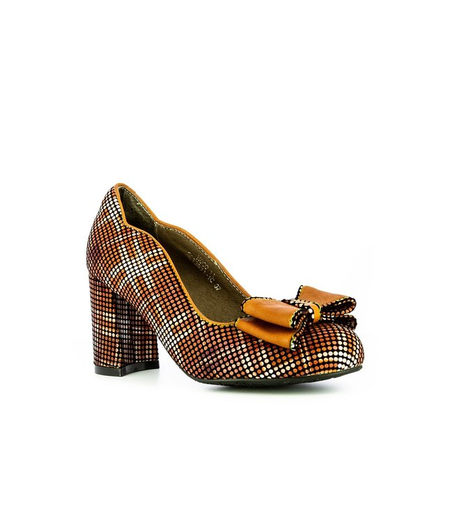 Laura Vita Laura Vita pumps with bow brown leather