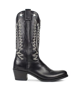 Sendra Sendra cowboy ladies boot black-white leather